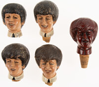 The Beatles Original Set of Cork Stoppers One Per Beatle Plus Extra Germany (5) (1963/1964)
