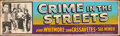 """Movie Posters:Crime, Crime in the Streets (Allied Artists, 1956). Rolled, Fine. Silk Screen Banner (24"""" X 82""""). Crime.. ..."""