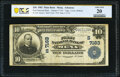 National Bank Notes:Arkansas, Mena, AR - $10 1902 Plain Back Fr. 624 The First National Bank Ch. # (S)7163 PCGS Banknote Very Fine 20.. ...