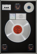 Music Memorabilia:Awards, Bruce Hornsby and the Range The Way It Is RIAA R Hologram Multi-Platinum Sales Award....