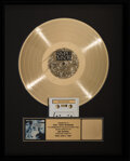 Music Memorabilia:Awards, Simple Minds Once Upon A Time RIAA Hologram Flower Gold Sales Award....