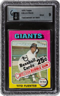 Baseball Cards:Unopened Packs/Display Boxes, 1975 Topps Baseball Cello Pack GAI Mint 9 With Carl Yastrzemski Back Card. ...