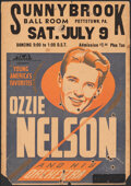 """Movie Posters:Musical, Ozzie Nelson and His Orchestra at the Sunnybrook Ballroom (MCA, 1930s). Fine-. Window Card (14"""" X 20""""). Musical.. ..."""