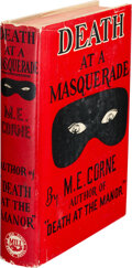 Books:Mystery & Detective Fiction, M. [Mollie] E. Corne. Death at a Masquerade. New York: M.S. Mill Co., Inc., [1938]. First Edition. Signed and ...