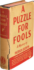 Books:Mystery & Detective Fiction, Patrick Quentin. A Puzzle for Fools. New York: Simon and Schuster, 1936. First Edition. Signed and inscribed under...