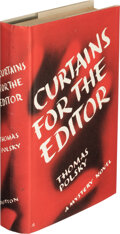 Books:Mystery & Detective Fiction, Thomas Polsky. Curtains for the Editor. New York: E.P. Dutton & Company, Inc., [1939]. First Edition. ...