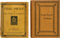 Books:Mystery & Detective Fiction, R[odriguez] Ottolengui. Two Copies of Final Proof or The Value of Evidence. New York and London: G. P. Putnam's ... (Total: 2 Items)