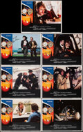 "Movie Posters:Science Fiction, Time After Time (Warner Bros., 1979). Near Mint/Mint. Autographed Lobby Cards (7) (11"" X 14"") Larry Noble Border Artwork. Sc..."