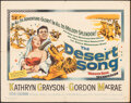 "Movie Posters:Musical, The Desert Song (Warner Bros., 1953). Folded, Fine/Very Fine. Half Sheet (22"" X 28""). Musical.. ..."