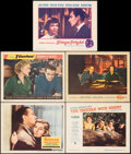 """Movie Posters:Hitchcock, Rebecca & Other Lot (20th Century Fox, R-1956). Overall: Very Fine-. Lobby Cards (5) (11"""" X 14""""). Hitchcock.. ... (Total: 5 Items)"""