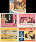 """Movie Posters:Hitchcock, To Catch a Thief & Other Lot (Paramount, 1955/R-1965). Overall: Fine/Very Fine. Lobby Cards (3) (11"""" X 14""""), Title Lobby Car... (Total: 5 Items)"""