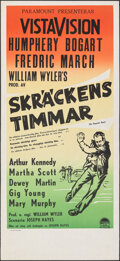 """Movie Posters:Film Noir, The Desperate Hours & Other Lot (Paramount, 1956). Rolled & Folded, Overall: Very Fine+. Swedish Inserts (2) (12.5"""" X 27.5"""")... (Total: 2 Items)"""