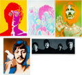 Music Memorabilia:Posters, The Beatles by Richard Avedon Look Magazine Original Poster Group Set of Five (1967). ...