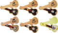 Music Memorabilia:Memorabilia, The Beatles Set of Six Watches in Guitar shaped Case With Tags (6) (1990's). ...