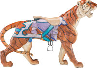 A William H. Dentzel Co. Carved and Painted Wood Carousel Tiger, Philadelphia, Pennsylvania, circa 1920 75 x 51 x