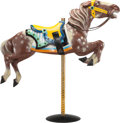 Collectible, An Allan Herschell Co. Carved and Painted Wood Carousel Horse, North Tonawanda, New York, circa 1920. 70 x 56 x 12 inches (1...
