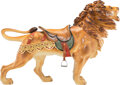 Collectible, A William H. Dentzel Co. Carved and Painted Wood Carousel Lion Designed by Daniel Müller, Philadelphia Pennsylvania, circa 1...