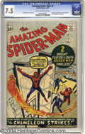 Silver Age (1956-1969):Superhero, The Amazing Spider-Man #1 (Marvel, 1963) CGC VF- 7.5 Cream to off-white pages. In this issue, we have the first appearance o...
