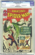 Silver Age (1956-1969):Superhero, The Amazing Spider-Man #2 (Marvel, 1963) CGC VF+ 8.5 Off-whitepages. The villainous Vulture sets Spidey's heart aflutter in...