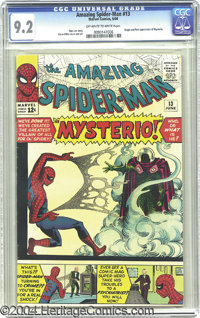 The Amazing Spider-Man #13 (Marvel, 1964) CGC NM- 9.2 Off-white to white pages. It's bad luck for Spidey in his 13th iss...