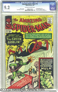 Silver Age (1956-1969):Superhero, The Amazing Spider-Man #14 (Marvel, 1964) CGC NM- 9.2 Off-white towhite pages. Spidey's turning green this ish, but not fro...