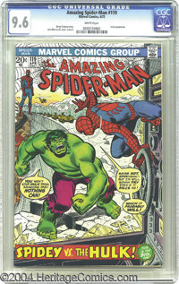 The Amazing Spider-Man #119 (Marvel, 1973) CGC NM+ 9.6 White pages. John Romita Sr. delivers a powerful cover featuring...
