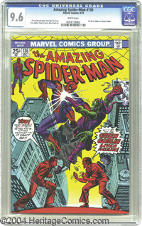 The Amazing Spider-Man #136 (Marvel, 1974) CGC NM+ 9.6 White pages. Second-highest grade from CGC to date on this issue...