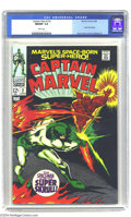 Silver Age (1956-1969):Superhero, Captain Marvel #2 (Marvel, 1968) CGC NM/MT 9.8 White pages. Gene Colan art. Super Skrull appearance. This is the highest gra...