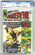 Silver Age (1956-1969):Superhero, Daredevil #1 (Marvel, 1964) CGC VF+ 8.5 Off-white pages. Sure, it'seasy to be swept away by the first appearance of the Man...