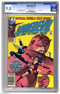 "Modern Age (1980-Present):Superhero, Daredevil #181 (Marvel, 1982) CGC NM/MT 9.8 Off-white to whitepages. This landmark double-size issue features the ""death"" o..."