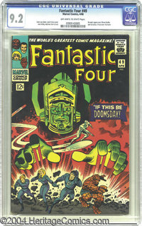 """Fantastic Four #49 (Marvel, 1966) CGC NM- 9.2 Off-white to white pages. How do you spell """"epic""""? Fantastic Fou..."""