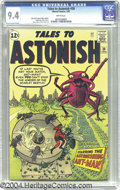 Silver Age (1956-1969):Superhero, Tales to Astonish #39 (Marvel, 1963) CGC NM 9.4 White pages. If youthought ants were enough to wreck a party, the Scarlet B...