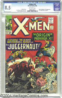 X-Men #12 (Marvel, 1965) CGC VF+ 8.5 Off-white pages. The joltin' Juggernaut rams his way into this issue with his first...