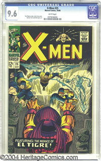 X-Men #25 (Marvel, 1966) CGC NM+ 9.6 White pages. If only the nicest X-Men issues will do, check out this specimen, whic...