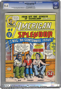American Splendor #1 (Harvey Pekar, 1976) CGC NM 9.4 Cream to off-white pages. First issue of Harvey Pekar's ground-brea...