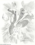Original Comic Art:Sketches, Brent Anderson - Nightcrawler Sketch Original Art (2004).. TheFuzzy Mutant gets a little frantic in this action-filled ske...