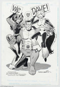Original Comic Art:Splash Pages, Terry Austin - Colossus and Friends Pin Up Original Art (2004)..Terry Austin's sumptuous inks have graced the best pencile...