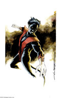 Original Comic Art:Splash Pages, Mitchell Breitweiser - Nightcrawler Illustration (2004) MitchellBreitweiser offers this ebullient portrait of Kurt Wagner, ...