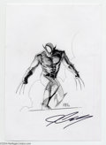 Original Comic Art:Splash Pages, John Cassaday - Wolverine Pin Up Original Art (2003).. Claws baredand poised for action, the Wolverine has seldom look mor...