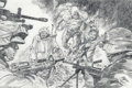 Original Comic Art:Sketches, Gene Colan - Captain America Illustration Original Art (2003).. Captain America and the U.S. Armed Forces drag Osama and Sa...