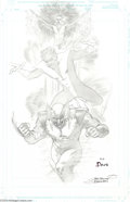 Original Comic Art:Splash Pages, Jean Jacques Dzialowski - X-Men Pin-Up Original Art (2004).. Facefront, true believers! Phoenix, Nightcrawler, and Wolveri...