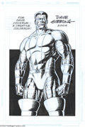 Original Comic Art:Splash Pages, Dave Gibbons - Colossus Pin Up Original Art (2004).. British artistsupreme Dave Gibbons treats us to a terrific portrait o...