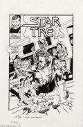 Original Comic Art:Splash Pages, Ed Hannigan, Ron Leary and Chris Rooks - Star TreX Pin Up OriginalArt (2004).. This fantasy cover mixes the worlds of St...