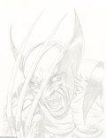 Original Comic Art:Sketches, Greg Horn - Wolverine Sketch Original Art (2004).. The Man with the Claws shows off his dental work in this screamin' portr...