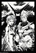 Original Comic Art:Splash Pages, Jim Lee - Futurians Pin Up Original Art (2004).. Wildstorm founderJim Lee , who has drawn WildC.A.T.s,, X-Men, D...