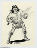 Original Comic Art:Splash Pages, Russ Maheras - Conan Pin Up Original Art (1977).. Super-fan RussMaheras, who provided so many memorable covers for The B...