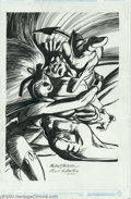 Original Comic Art:Splash Pages, Michael Netzer and Joe Rubinstein - Storm and Nightcrawler Pin UpOriginal Art (2004).. Looks like a stormy night! Better h...