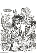 Original Comic Art:Splash Pages, Jerry Ordway - Thunderbird Pin Up Original Art (2004).. Thunderbirdblazes a footpath through the woodlands, at a blisterin...