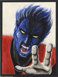 Original Comic Art:Splash Pages, Mike Pascale - Nightcrawler Pin Up Original Art (2004).. MikePascale, creator of Bru-Head, and artist on Strange Kad...