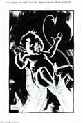 Original Comic Art:Splash Pages, Sean Phillips - Baby Nightcrawler Pin Up Original Art (2004).. It'sa... boy? Witness the birth of everyone's favorite furr...